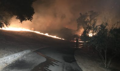 FIre tearing through the ranch